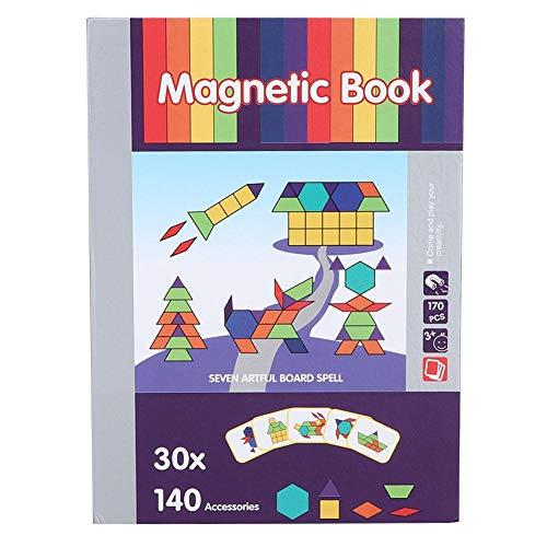 Magnetische puzzels voor kinderen van 4-6 jaar, kinderen Magneetspeelgoed Kinderen Magnetische puzzels Legpuzzel Interactieve hersenontwikkeling Speelgoed Educatief speelgoed voor kinderen Baby(#1)