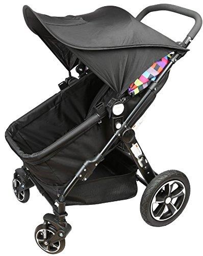 BabyMad Universal Buggy Sun Schaukeldach (schwarz)