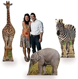 Wild Jungle Safari Animal Set of 3 Cardboard Cutouts Standee Standup Party Supplies Decorations Props