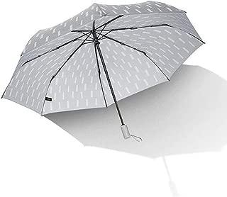 Household Umbrella Automatic Umbrella Business Men's Rain and Rain Umbrella Ultralight Folding Umbrella Blue, Gray Optional DWWSP (Color : Gray)
