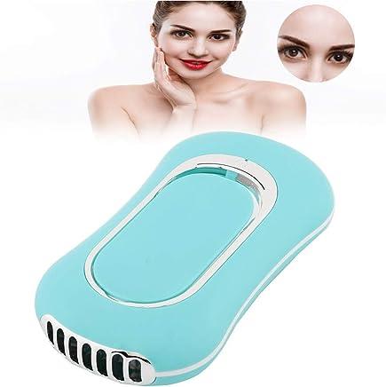 Color : White XIANGNAIZUI Portable Mini Fan Handheld Personal Fan Home Office Desk Speed Adjustable USB Rechargeable Eyelash Fan Air Cooler Outdoor Travel