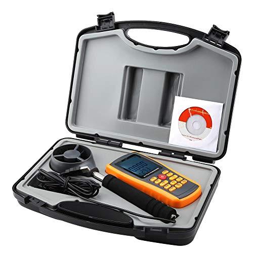 Zerone GM8902 + Pantalla LCD Anemómetro digital Flujo de aire Velocidades del viento...
