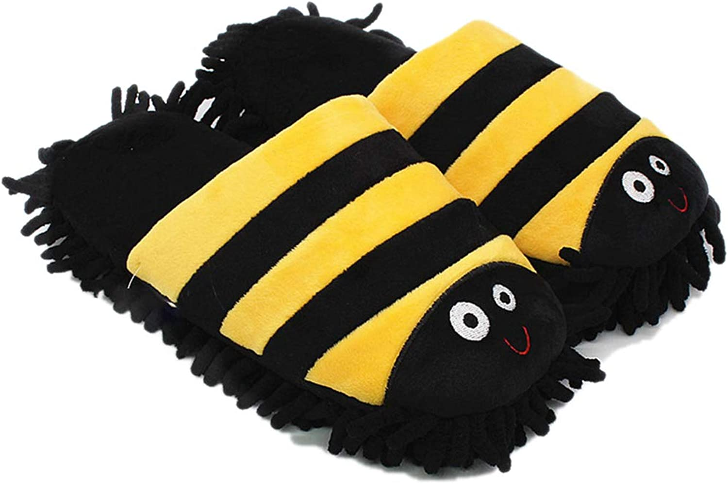 Nafanio Home Plush Slippers Warm Winter Cute Cartoon Indoor Floor Mop shoes for Guests Adults Girls Ladies Flats