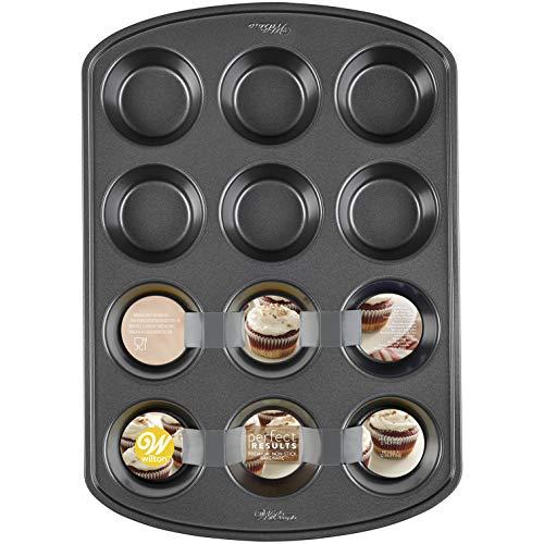Wilton Perfect Results Premium Non-Stick Bakeware Standard Muffin and Cupcake Pan, 12-Cup Baking Pan