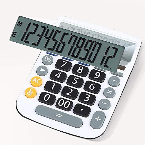 HO-TBO rekenmachine, groot scherm, grote knop, calculator, multifunctionele studenten, exam-rekenmachine, fashion business, wit, ideaal gereedschap voor graaf
