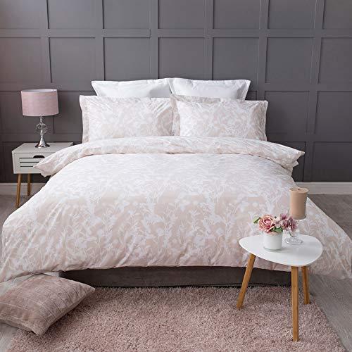 Belledorm Rosie - Juego de funda de edredón y funda de almohada Oxford, 100% algodón, 200 hilos, color rosa