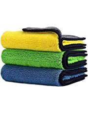 Car Drying Towel,ShowTop Free Microfiber Cleaning Cloth,Premium Professional Soft Microfiber Towel,Super Absorbent Detailing Towel for Car/Windows/Screen/Kitchen,40x30cm 3Pack