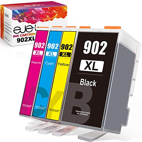 ejet 902XL Compatible Ink Cartridge Replacement for HP 902 902XL (Newest...