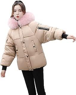 Crop Top,Kulywon Women Warm Coat Slim Fit Hooded Casual Outwear Thick Fur Collar Jacket Outwear