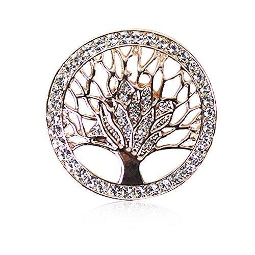 Glamexx24 Broche sieraden magneet hanger knop met strass - glitter voor jurken sjaals poncho's 43000