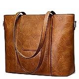 S-ZONE Women Tote Shoulder Bag Ladies Large Work Purse Handbag Faux Leather