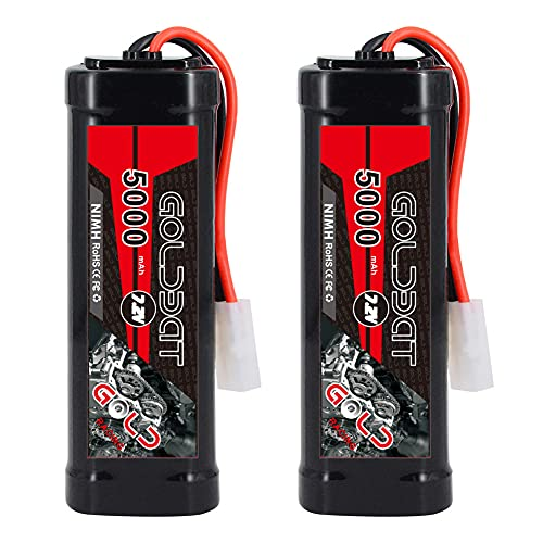 RC Battery NiMH Battery Pack 5000 mAh 7.2 V Battery Replacement Battery for RC Cars Aeroplane Helicopter