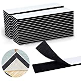 Non Slip Pad Rug Grippers, Strips Adhesive Couch Cushion Non Slip Pads Heavy Duty Hook and Loop Tape Strips to Keep Your Rug in Place 1x 7 inch for Home or Office 30 Pairs