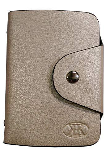 KK(三四郎市場) カードケース 20枚収納 全9色 磁気防止 薄型 レザー 大容量 カード入れ 男女兼用 クリアポケット メンズ レディース 通勤 通学 プレゼント ギフト用 ゴールド