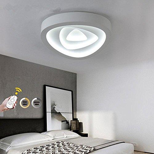 NIHE 50W LED Mur et plafonnier Triangle Plafonnier Jolie salle de séjour Dimmer de chambre Télécommande Lumière Blanc Diamètre 48CM 180-260V
