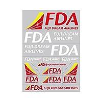 フジドリームエアラインズ FDA ロゴ転写ステッカー レッド