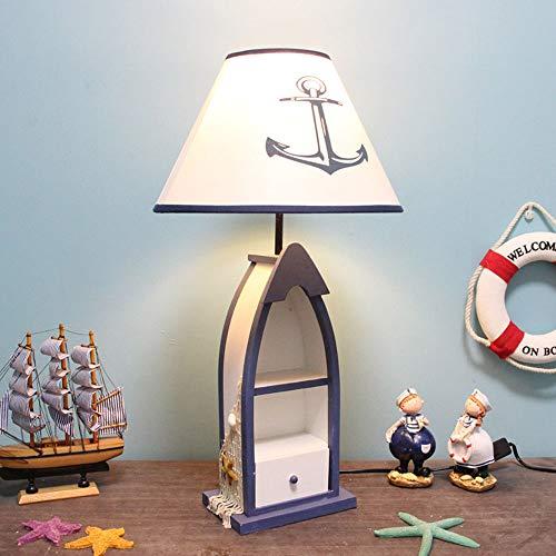 Moderno Estilo nórdico Lampara de mesa creativo Original Madera Tipo de nave Cajón Caja de Almacenaje de decoración Decoración del hogar Luz pie para sala estar y dormitorio