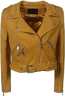 DISSA P0234 Women Faux Leather Biker Jacket Slim Coat Leather Jacket