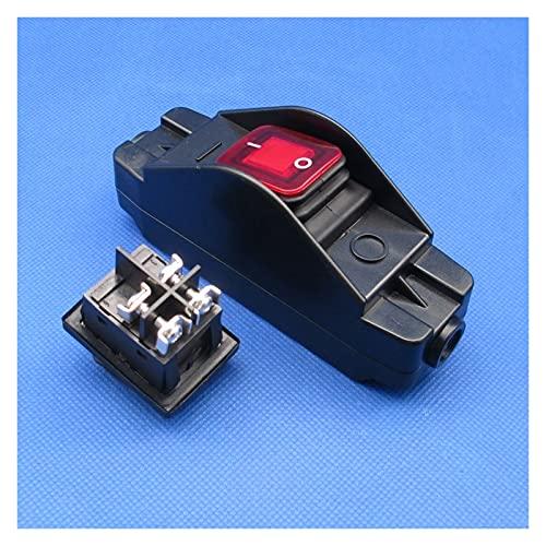 Jgzwlkj Interruptores basculantes 1 unids JR-617 Impermeable en línea Interruptor de Cable Interruptor de Cable Plano Alambre Redondo Plata Contacto Doble Interruptor de Polvo 30A 12V 24V 36V