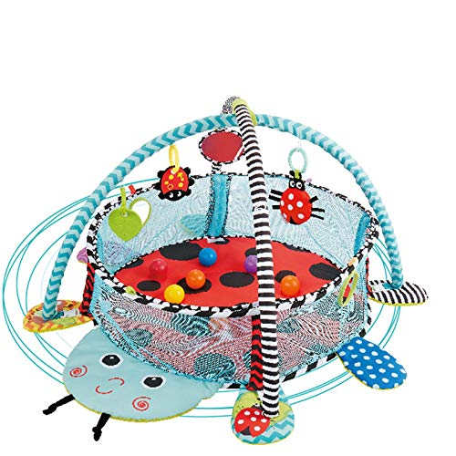 YLLHK Babylekmatta, nyfödd lekmatta havboll pool, 30 färgglada boll mjuk plast, för småbarn 1 – 15 månader, bäddmadrass