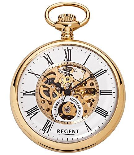 Regent P558 - Reloj de Bolsillo, 50 mm, Mecanismo Visto