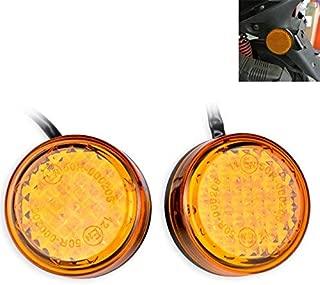 TUINCYN Parafango posteriore 12/V LED fanale posteriore freno stop indicatore di funzionamento della lampada per fuoristrada moto motocross Dirt bike confezione da 1 nero della lente rossa