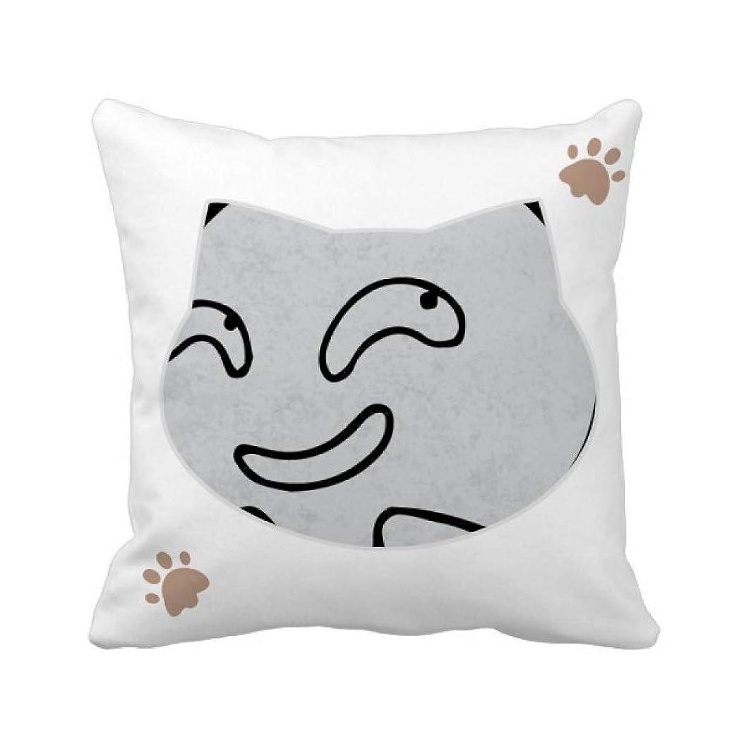 リフレッシュ銃フラフープ凶悪な笑いの黒い発現emoji 枕カバーを放り投げる猫広場 50cm x 50cm