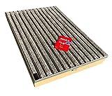 Bodenwanne mit Stahlzarge 75 x 50 mit Schuhabstreifer Rips Grau
