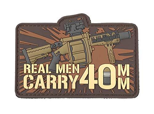 Patriot Patch Co – Homens de verdade carregam 40 mm – Patch