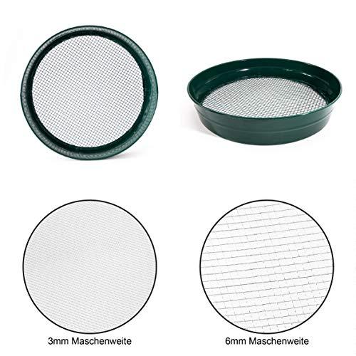 2er Set Gartensieb Erdsieb/Bodensieb (3mm+6mm) zum aussieben von Erde Kompost und Aussehen von Saatgut