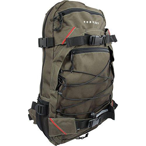 FORVERT Unisex Bag Louis sportlich-lässiger Daypack mit durchdachter Ausstattung und Boardcatcher, grün (Dark Olive)