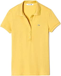 Lacoste Womens Gold Feminine Polo Shirt in Stretch Cotton 42/10
