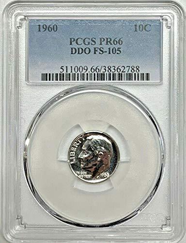 1960 Roosevelt DDO FS-105 Dime PR-66 PCGS