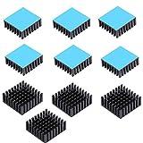 10個 ヒートシンク導熱接着シート付き 冷却 アルミ ヒートシンクために 熱暴走対策 オーディオファン ヒートシンク アルミ 放熱板 CPU 回路基板 LED アンプに適用 25X25X10MM