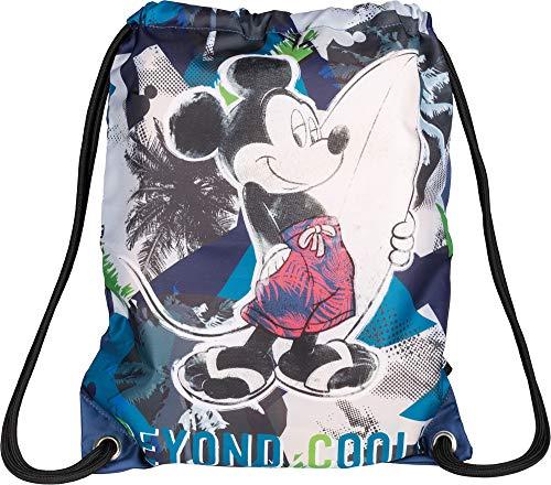 Baagl Disney Mickey Sportsack für Sport und Schule - wasserdichte Schuhbeutel, Turnbeutel für Mädchen und Jungen