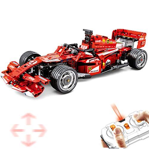 HYZM Technik Formel 1 Sportwagen Modell Bausteine, 585 Teile Ferngesteuert FRR-F1 Rennwagen mit Motoren Bausatz Konstruktionsspielzeug, Kompatibel mit Lego Technic