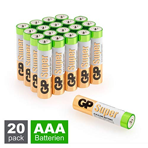 GP Batterien AAA Micro Super Alkaline Vorratspack 20 Stück in