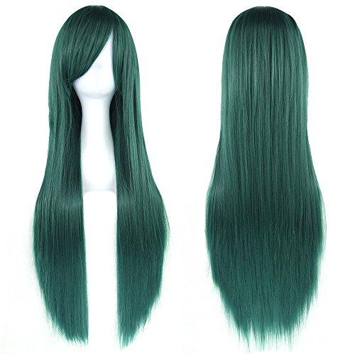 comprar pelucas verde larga online