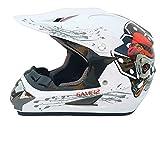 Dgtyui Casco moto integrale casco fuoristrada bici fuoristrada casco da discesa fuoristrada moto leggero e resistente agli urti per mantenere fresco - bianco 4 XL