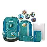 Ergobag Pack MonstBärfreunde, ergonomischer Schulrucksack, Set 6 teilig, 20 Liter, 1.100 g, Blau
