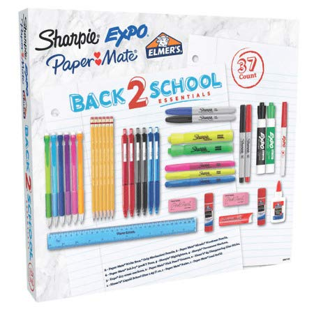 Writing Essentials Kit: Markers & Highlighters, Pens, Dry Erase & More, 37 Count