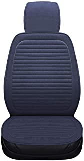 Universal Breathable Car Seat Cushions Linen Fabric Seats Cover (Blue)