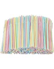 DierCosy Engångssugrör färgglada bendable flexibla sugrör plast mångfärgade sugrör 500 st. premium