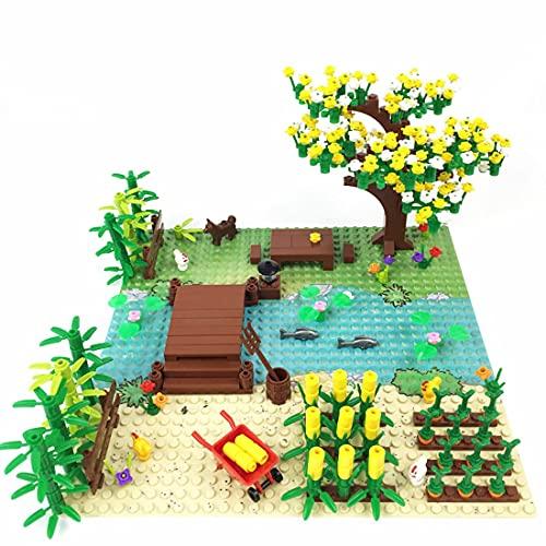 Bloques de construcción modelo de escenas rurales 300 piezas, para niños adultos compatibles con Lego