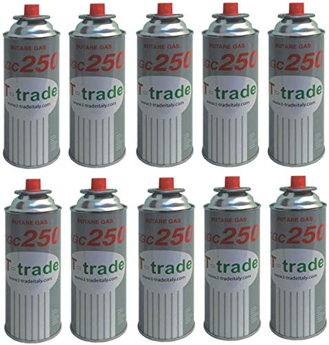 ALTIGASI 10 Stück Gaskartusche GPL 250 GR Art.KCG250 Ideal Lötkolben oder Backofen, kompatibel mit CAMPINGAZ cp250 Brunner 10 Stück