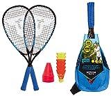 Talbot Torro Speed 6600, Set da Badminton, 2 Racchette in Alluminio da 58.5 cm, 6 Volani Veloci e Resistenti al Vento, Incluse 8 Picchetti Uomo, Multicolore, Taglia Unica