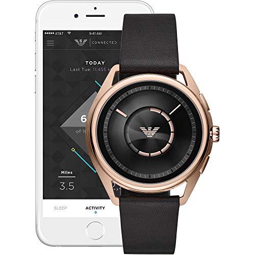 Emporio Armani Herren-Smartwatch mit Edelstahl Armband ART9005