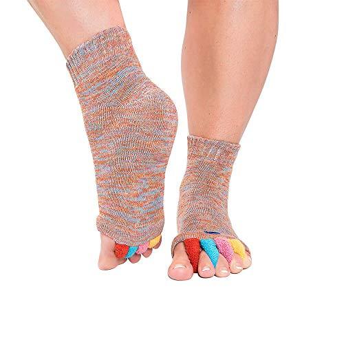 Original Foot Alignment Socks Multi Color Medium (Womens 7-9/Mens 5-9) Happy Feet