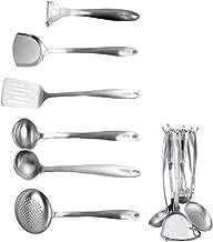 Cooking Utensils Set Utensil Set 7-piece Stainless Steel Kitchen Cooking Utensils Tool Kitchen Gadgets Cookware Set Best G...