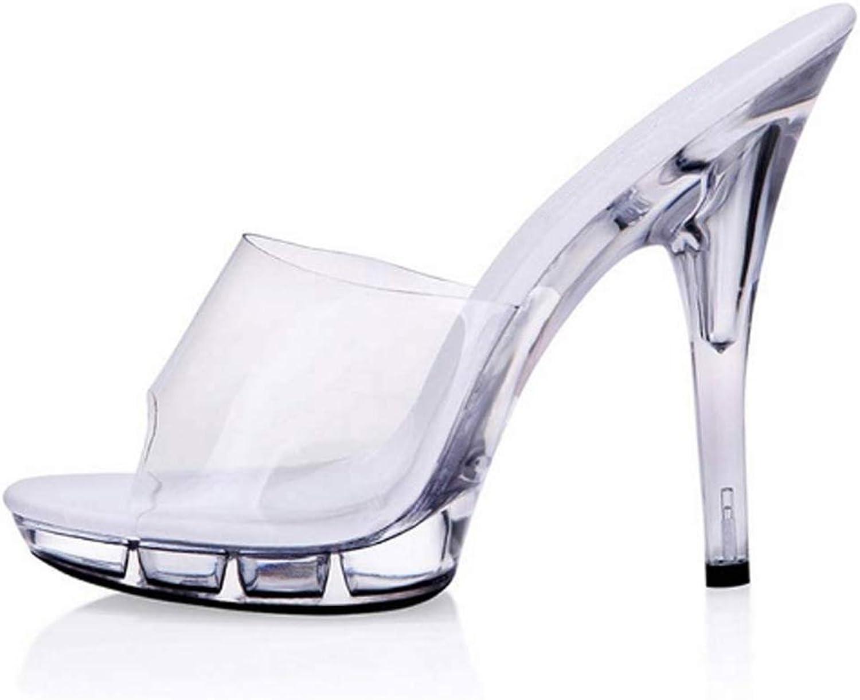 LIURUIJIA LIURUIJIASummer Style Sandals Sexy Women Pumps 5Cm Platform Woman shoes Transparent Crystal 15 cm High HeelsGL-GG-303703